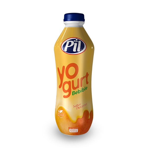 Yogurt bebible con pulpa molida de Durazno