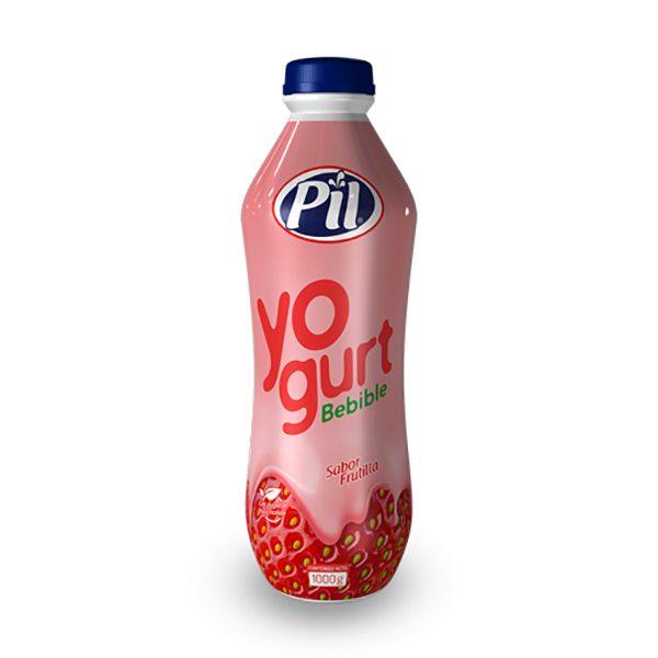 Yogurt bebible con pulpa molida de Frutilla